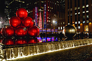 Pool Balls Photos - Radio City Music Hall Night Scenic by George Oze