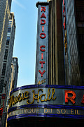 Broadway Framed Prints - Radio City Music Hall Framed Print by Paul Ward