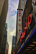 Landscapes Metal Prints - Radio City NY Metal Print by Chuck Kuhn