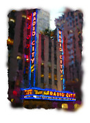 Radio Digital Art - Radio City NYC by Geoff Strehlow