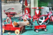Radio Framed Prints - Radio Flyer Framed Print by David Bearden