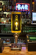 Sports Bar Prints - Radio Style Lamp in a Bar Print by Jaak Nilson