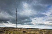 Radio Tower In Field Print by Jon Boyes