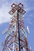 Communications Tower Prints - Radio Transmitter Mast Print by Mark Williamson