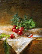 Still Life Prints Paintings - Radishes by Robert Papp