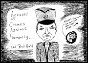News Drawings Originals - Radko Mladic - Captured by Yasha Harari