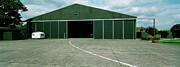 Military Base Photo Originals - RAF Elvington Hangar by Jan Faul