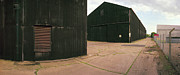 Raf Bomber Command Prints - RAF Eye Hangars Print by Jan Faul