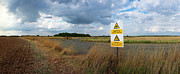 Military Base Photo Originals - RAF Fulbeck Kill Sign by Jan Faul