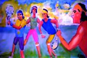 French Open Paintings - Rafa Tennis at the French Wimbleton and U.S. Open by Stanley Morganstein