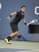 Us Open Prints - Rafael Nadal In Attendance For Us Open Print by Everett