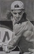 Nadal Drawings - Rafael Nadal by Mike OConnell
