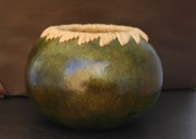 Raffia Sculptures - Raffia Wrapped Bowl by Jonna Anderson-Bull