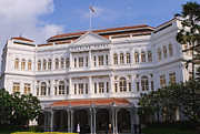 Pete Reynolds Metal Prints - Raffles Hotel - Singapore Metal Print by Pete Reynolds