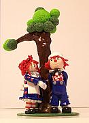 Clay Sculptures - Raggedy Ann and Andy by Ryan Wilson
