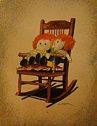 Child Toy Originals - Raggedy Ann and Raggedy Andy Take a Break by Charles Roy Smith