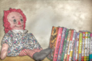Shelf Digital Art - Raggedy Ann Doll on Bookshelf by Randy Steele