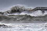 Disaster Prints - Raging Black Sea Print by Evgeni Dinev