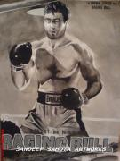 Art Ross Drawings - Raging Bull by Sandeep Kumar Sahota