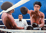 Boxing Painting Prints - Raging Bull Print by Tom Roderick