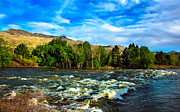 Silk Water Prints - Raging River Print by Robert Bales