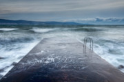 Seascape. Winter Prints - Raging Sea Print by Evgeni Dinev