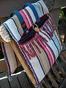 Hand Made Tapestries - Textiles - Ragrug Saddlebag by Krisha Fairchild