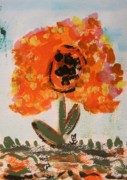 Primitive Drawings - Rags-Flowers from the Flower Patch by Mary Carol Williams