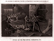 Raid On The Charleston Post Office Print by Everett