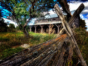 Split Rail Fence Posters - Rail and Barn Poster by John Herzog