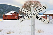 Caboose Posters - Rail Crossing Poster by John  Greaves
