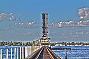 Palmetto Photos - Rail Road Rising over the Manatee River by Nicholas Evans