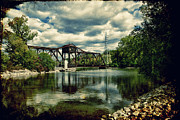 Downtown Appleton Photo Prints - Rail Swing Bridge Print by Joel Witmeyer