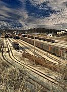 Rail Posters - Rail Yard 1 Poster by Scott Hovind
