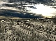 Train Car Prints - Rail Yard 4 Print by Scott Hovind