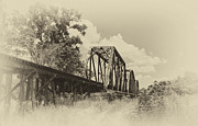 Guy Whiteley Photography Prints - Railroad Bridge  13979s Print by Guy Whiteley