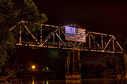 Flag Of Usa Originals - Railroad Bridge HDR by Jason Blalock