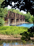 Lewisburg Framed Prints - Railroad Bridge Framed Print by Penny Johnson