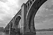 Railroad Bridge Richmond Va Print by Sean Cupp