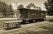 Old Caboose Posters - Railroad Car and Wagon Poster by Brian Wallace