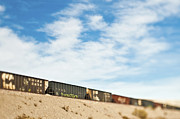 Arid Photos - Railroad Cars by Eddy Joaquim
