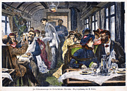 Waiter Prints - Railroad: Diner, 1881 Print by Granger
