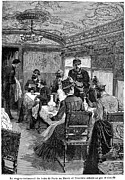 Waiter Prints - Railroad: Dining Car, 1880 Print by Granger