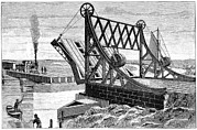 Railroad Workers Art - Railroad Drawbridge, 19th Century by
