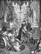 Railroad: Interior, 1876 Print by Granger
