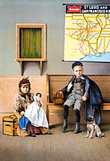 Overcoat Framed Prints - Railroad Poster, 1898 Framed Print by Granger