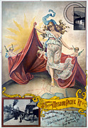 Cherub Art - RAILROAD POSTER, c1890 by Granger