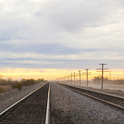 A.m Photos - Railroad Tracks by Eddy Joaquim