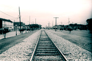 Toy Shop Framed Prints - Railroad Tracks Rayville Louisiana Framed Print by Doug  Duffey