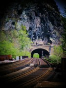 Tunnels Posters - Railroad Tunnel Poster by Joyce  Kimble Smith